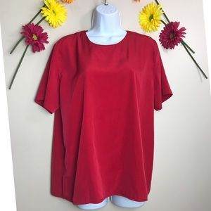 Notations Large Red plain Blouse